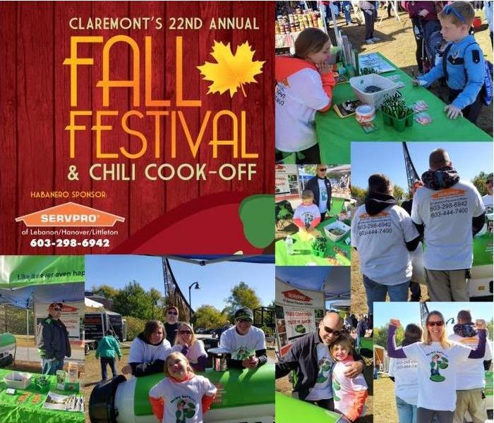 compilation photo of people at fall festival